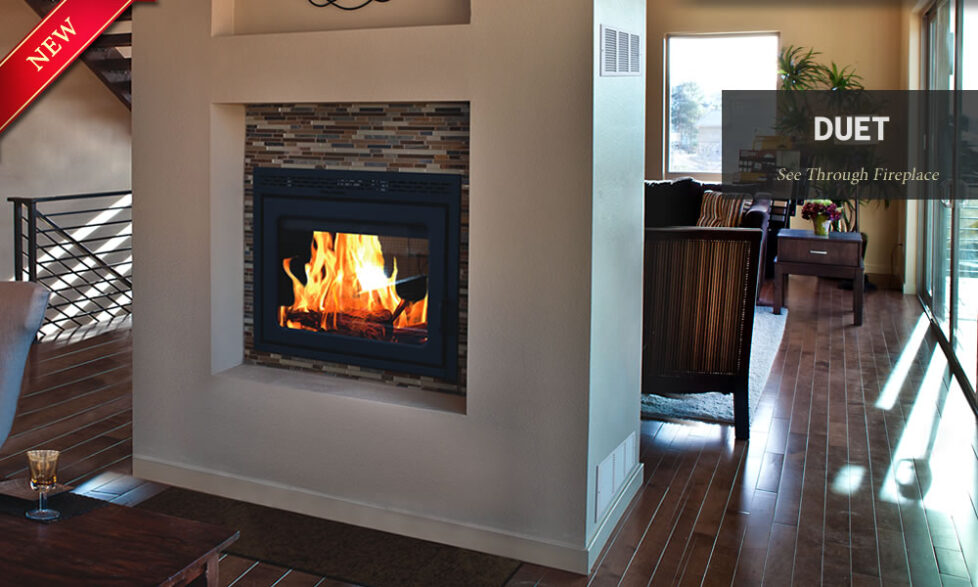 The Duet is the industry's most efficient and cleanest burning see-through  fireplace. It is EPA tested and approved with very low emissions. - High Efficiency Zero Clearance Wood Fireplaces Archives - Vonderhaar