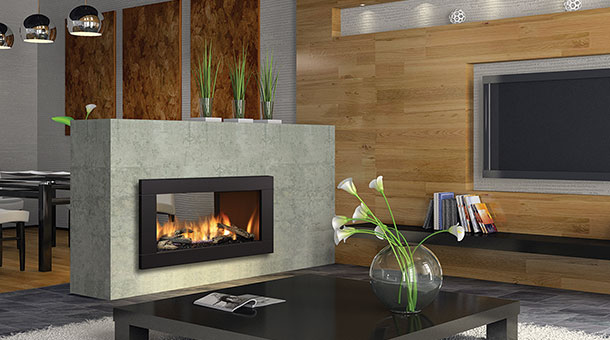Regency HZ42STE Contemporary See-Thru  Gas Fireplace